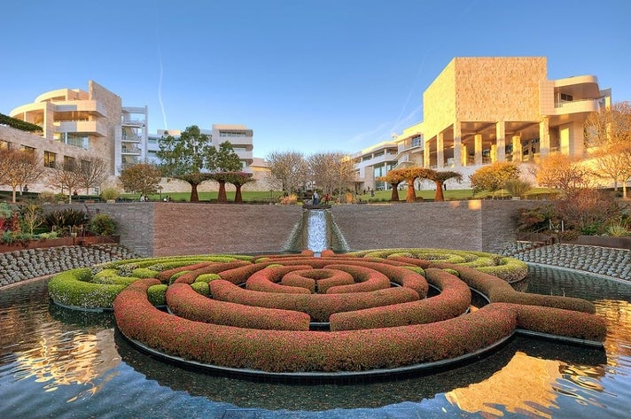 Getty Center Courtyard | Photo courtesy of Shawn Park, Flickr